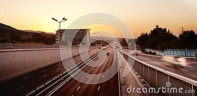 Night car trafic