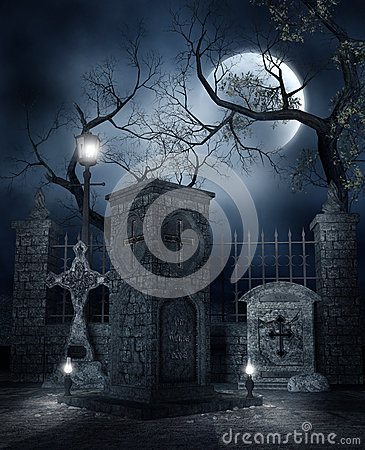 Night at the cemetery