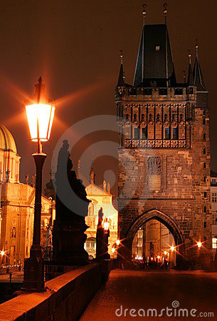 Free Night Charles Bridge Stock Photo - 7586850