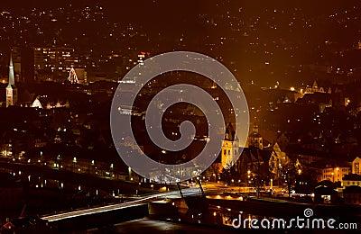 Night city Hamelin in Germany