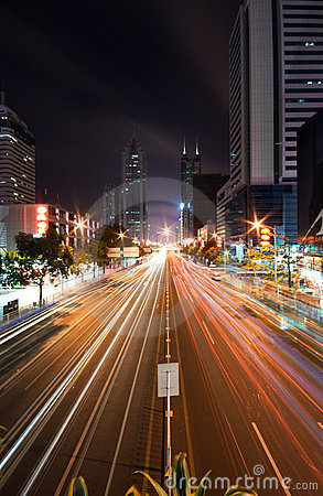 Night City Highway Royalty Free Stock Images - Image: 10018199