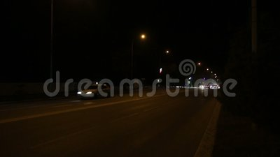 Night city road stock footage