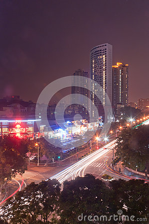 Night city in Zhuhai, China Editorial Photo