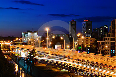 Night cityscape. Rostov-on-Don. Russia