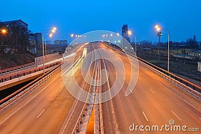 Night cityscape. Rostov-on-Don. Russia