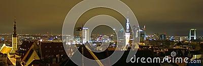 Night cityscape of Tallinn