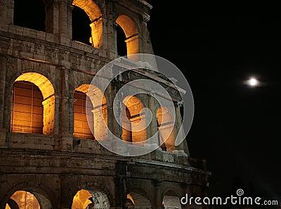 Night Colosseum in Rome