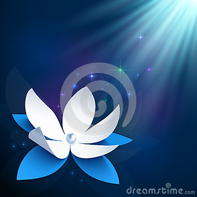 Night cosmic flower vector background
