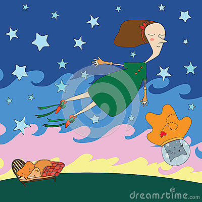 Night dream illustration