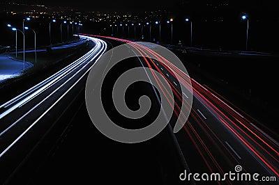 Night driving.