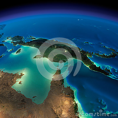 Free Night Earth. Australia And Papua New Guinea Royalty Free Stock Image - 39395946