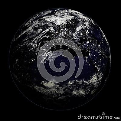 Night Earth - Europe/Asia/Afri