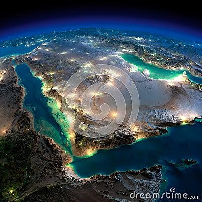 Free Night Earth. Saudi Arabia Stock Image - 39645931