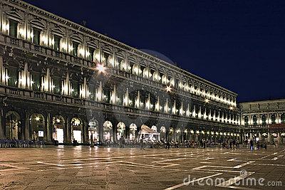 Night exposure of Piazza San Marco, Venice,