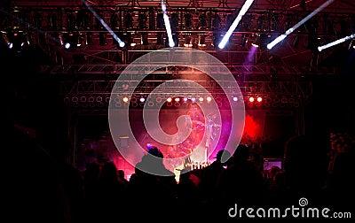 Night Festival Pink Light Stage