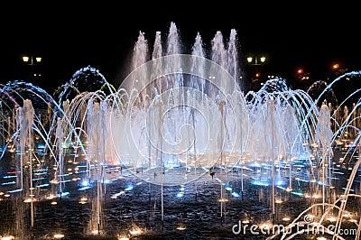 Night fountain in Tsaritsino
