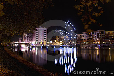 Night giants in Strasbourg