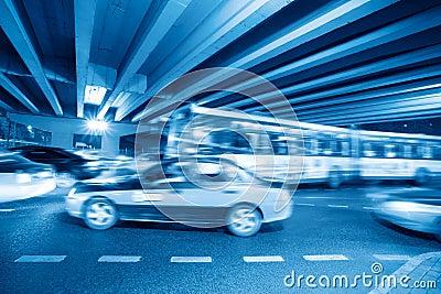 Night heavy traffic