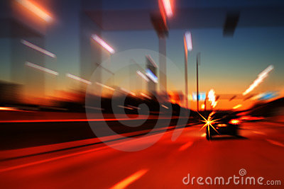 Night highway motion