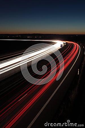 Night highway rush