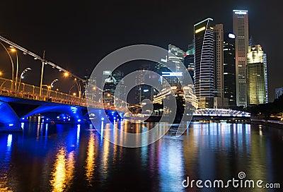 Night illuminated skyline
