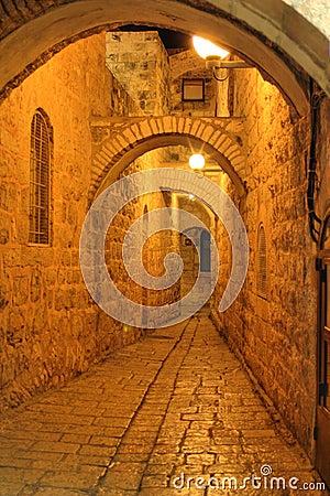 The night in Jerusalem streets