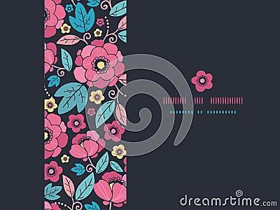 Night Kimono Blossom Horizontal Frame Seamless