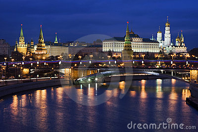 Night Kremlin, Moscow, Russia