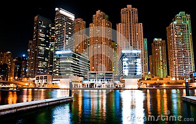Night landscape metropolis
