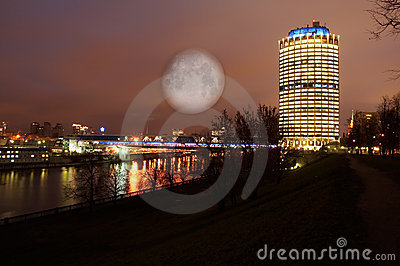 Night landscape of Moscow