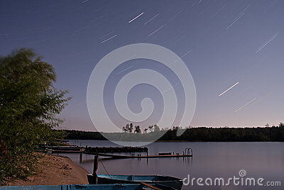 Seliger lake: night stars
