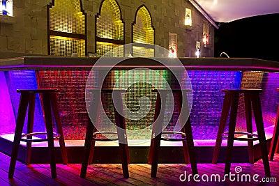 Night life bar colorful light