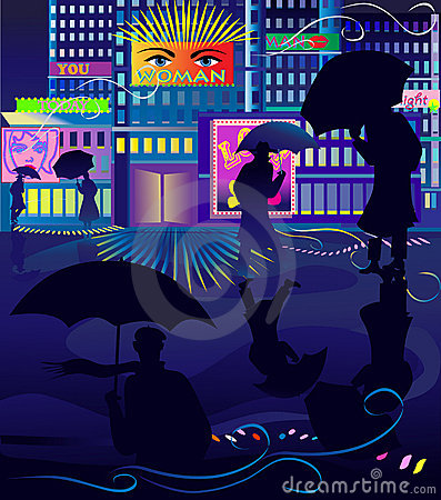 Night life in the city