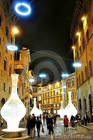 Night life in Florence, Italy Editorial Stock Photo