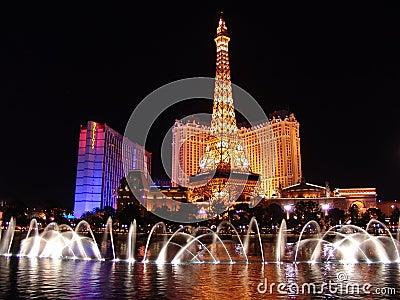 Night life in Las Vegas Editorial Photo