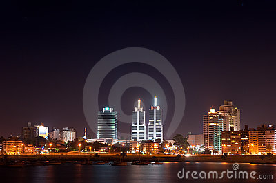 Night life of Montevideo town