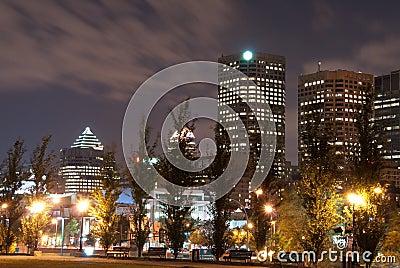 Night lights of Montreal