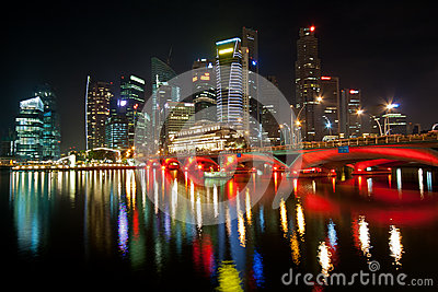 Night lights of Singapore
