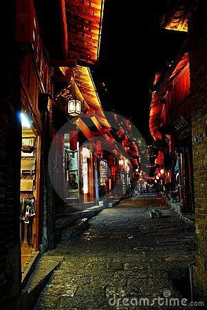 Free Night Lijiang, Shopping Royalty Free Stock Photos - 8751528