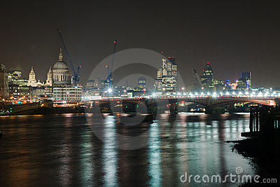 Night London Editorial Photo