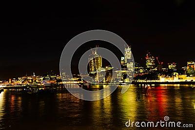 Night London city