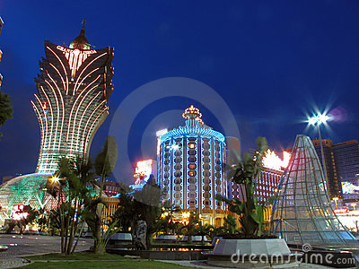Night of macao Editorial Image