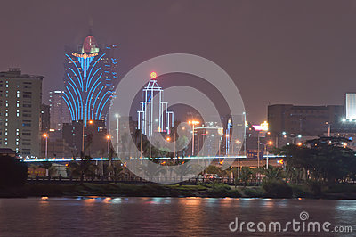 Night of macao Editorial Stock Image