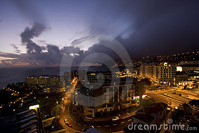 Night in Madeira Islands