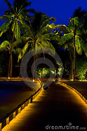 Night on maldives