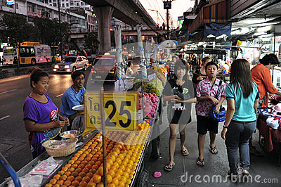 Night Market Editorial Stock Photo