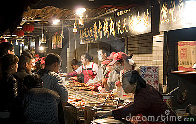 Night market in China Editorial Photo