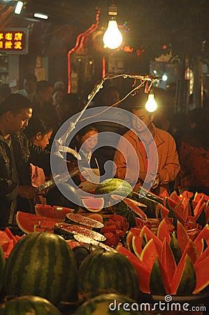 Night market Editorial Image