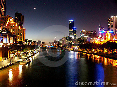 Night in melbourne