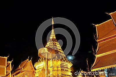 Night  moon of Phra Thart Doi Suthep